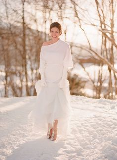 fille mariage d'hiver